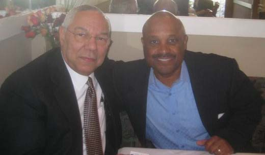 Dr. Willie Jolley and Gen. Colin Powell